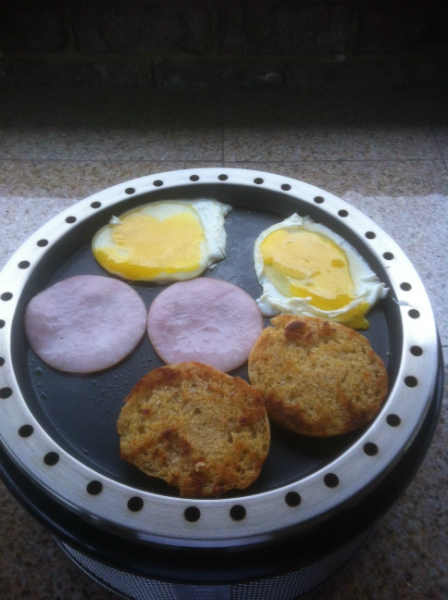 Breakfast on the cobb!