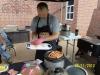 Conecuh sausage with John Henry\'s Maple Walnut rub.