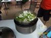 Add green peppers and vidalia onion.