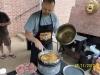 Cooking chicken fajitas in the wok!