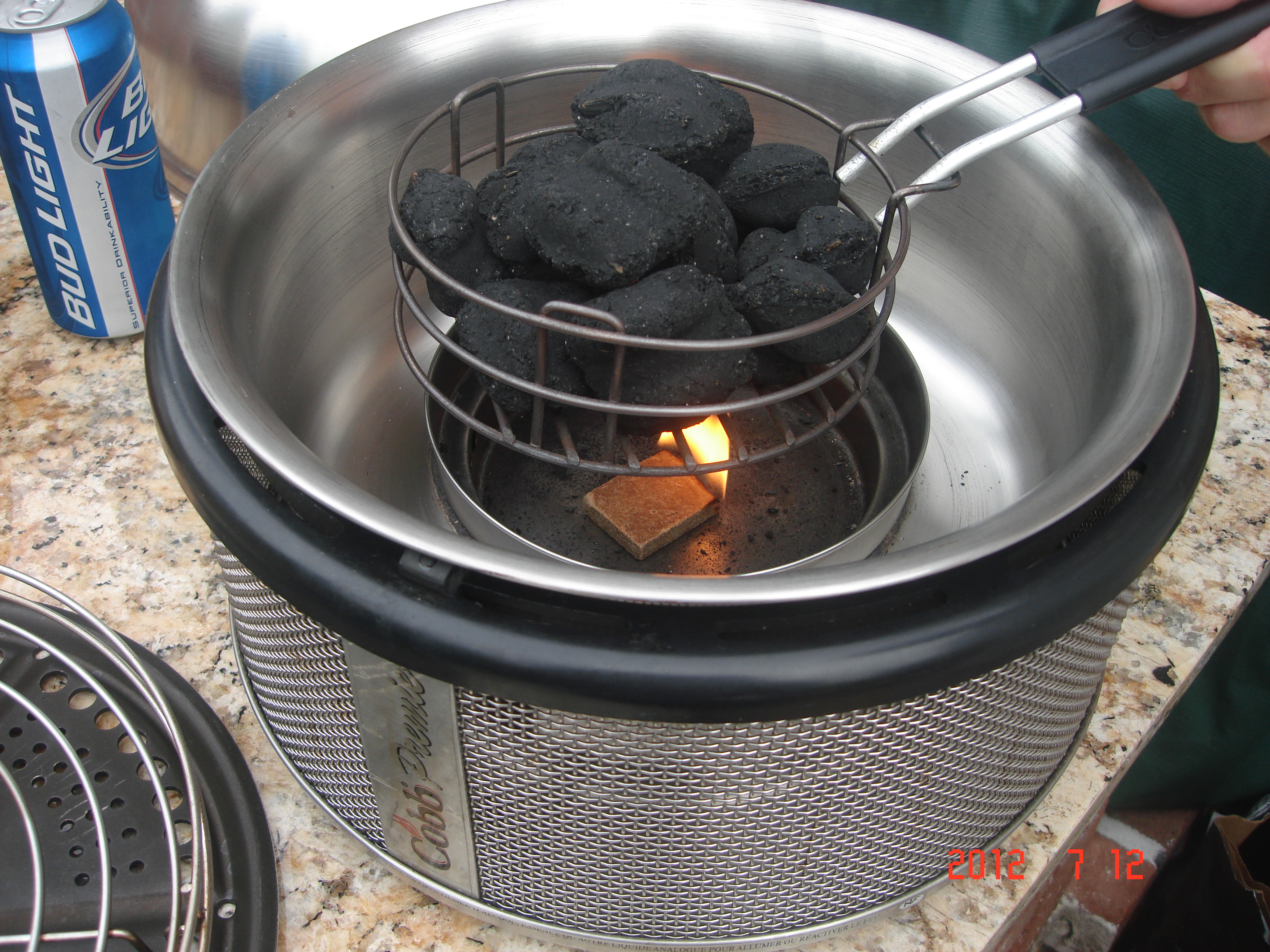 Charcoal Briquettes In A Pan